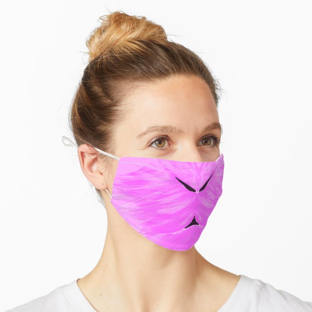 Fluffy Pink Bunny Face Mask Mask