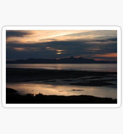 Great Salt Lake at Dusk Sticker