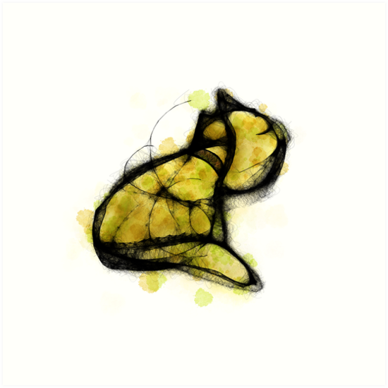 Golden Cat by DragonlordAri