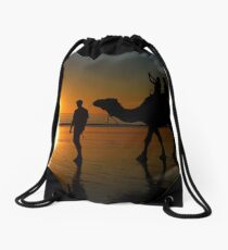 Camels on Cable Beach 1 Drawstring Bag