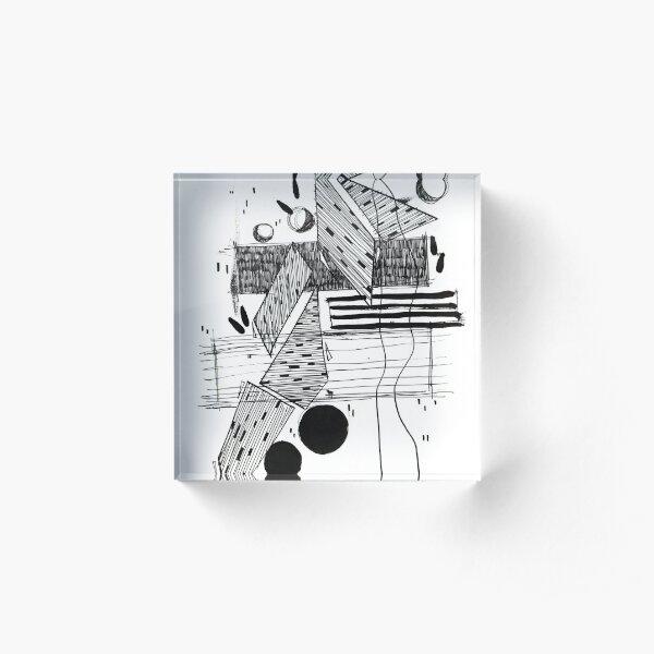 Monochrome Architecture 011 Acrylic Block