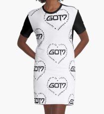 GOT7 Heart Graphic T-Shirt Dress