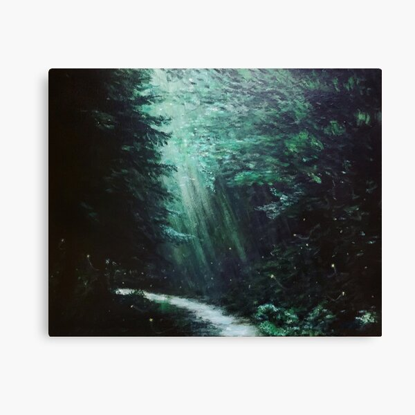 Fireflies Lighting Our Way Back Through The Forest Canvas Print