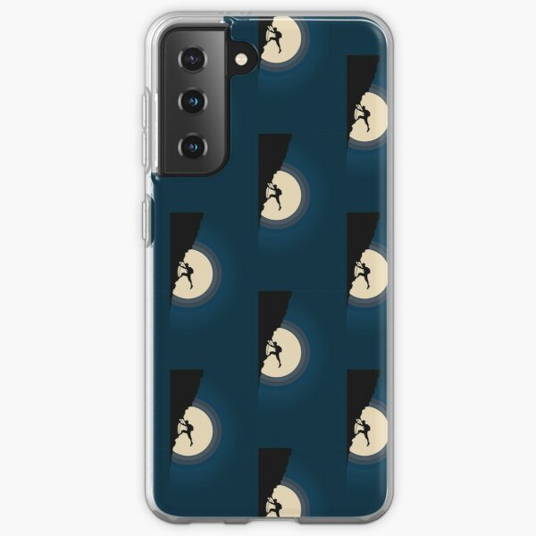 Rock Climbing in the Moonlight Samsung Galaxy Soft Case