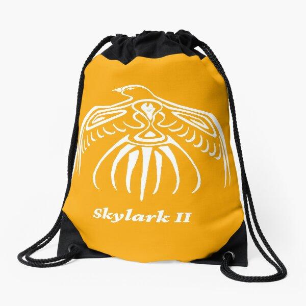 Skylark II Orange Drawstring Bag