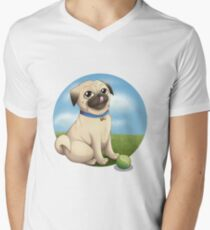 Pug Playtime Men's V-Neck T-Shirt