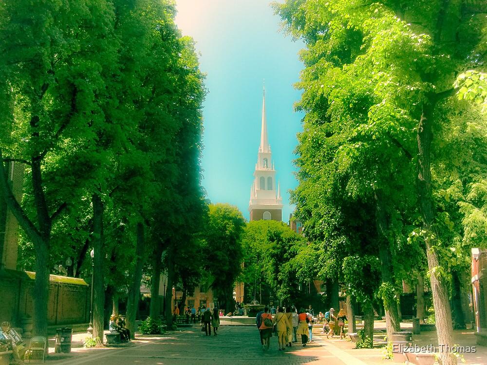 Boston's North End Old North Church by Elizabeth Thomas