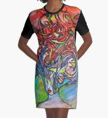 We Are Real Graphic T-Shirt Dress