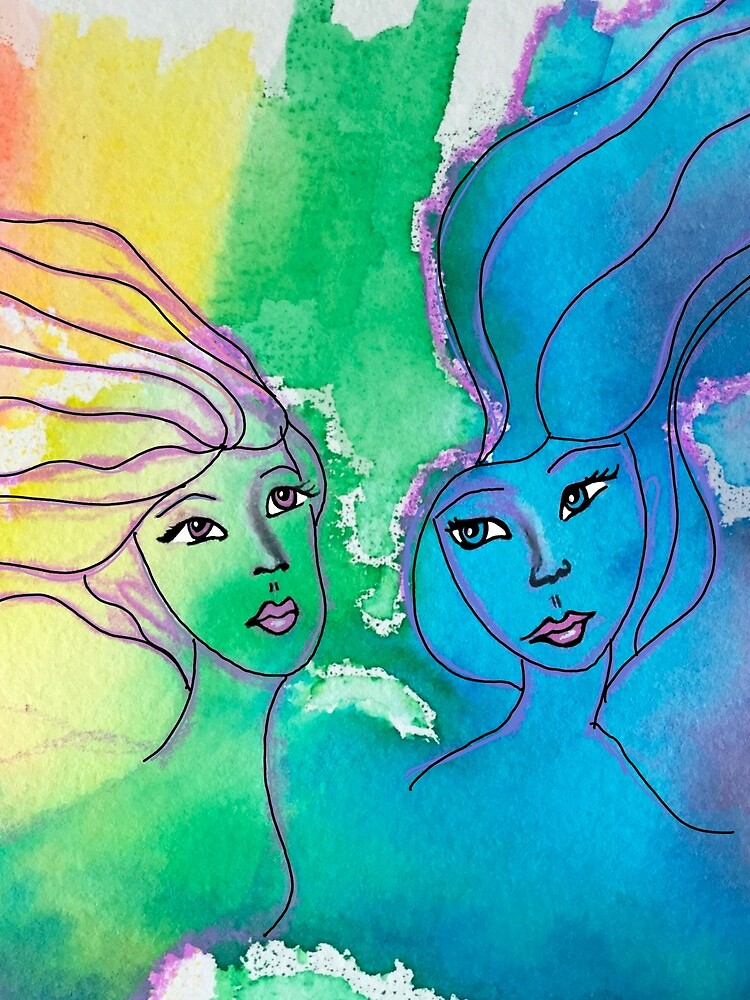 Sisters Water color by mydabug