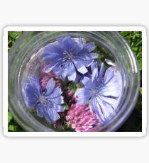 Flowers in a Jar Sticker
