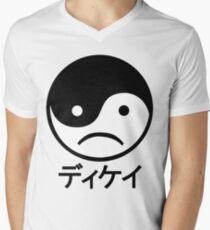 Yin Yang Face I Men's V-Neck T-Shirt