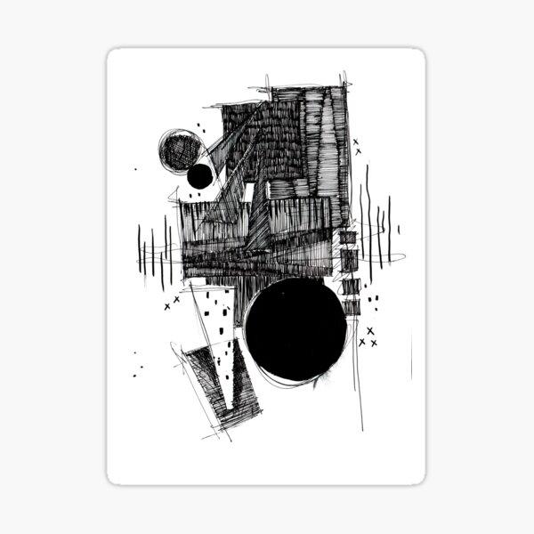 Monochrome Architecture 024 Sticker