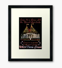 The Grand Spectacle. the White House Circus....The Race for the US White house 2016 Framed Print