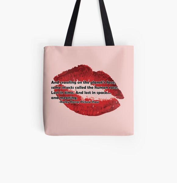 Rocky Horror Picture Show Quote All Over Print Tote Bag