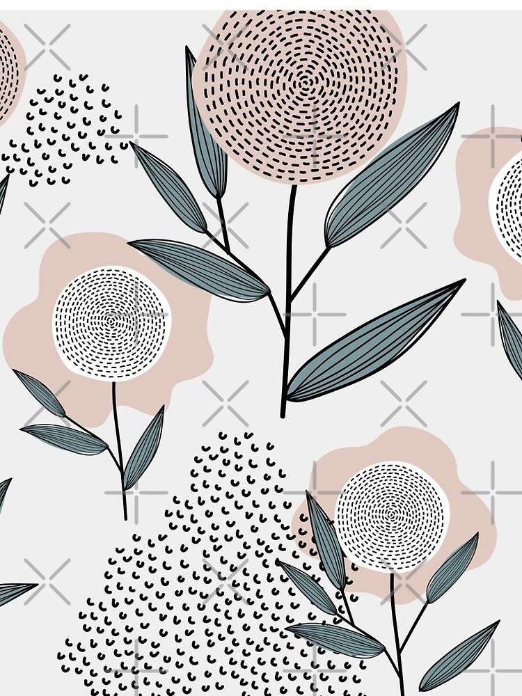 Abstraktes Retro Blumenmuster von brainbubbles