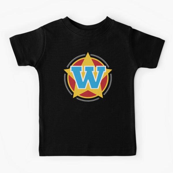 Superhero Letter W. Star and stripes Kids T-Shirt