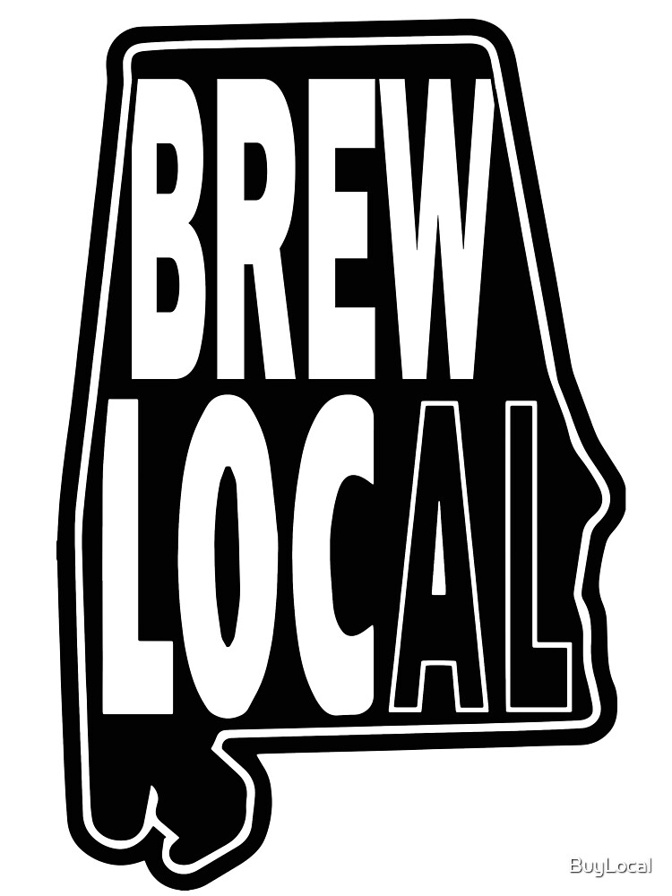 Brew Local Black print by BuyLocal