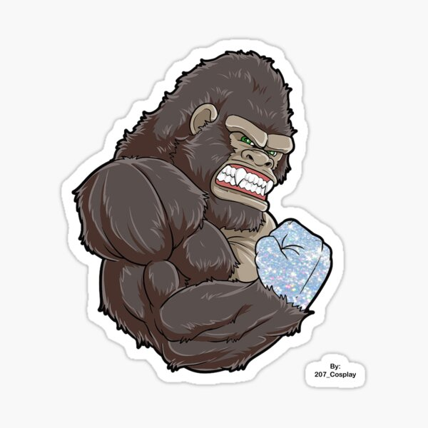 The Dimond Handed Ape Sticker
