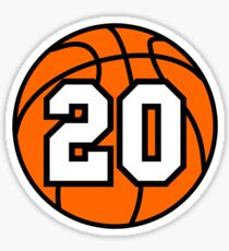 Basketball 20 Sticker