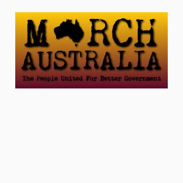 March Australia T-Shirt Graded Background by marchaustralia