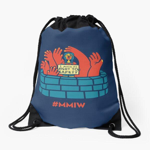 MMIW awareness Design Drawstring Bag