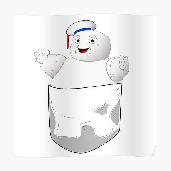 Pocket Puft Marshmallow Man Poster