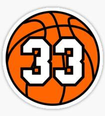 Basketball 33 Sticker