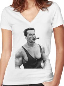 Arnold Women's Fitted V-Neck T-Shirt
