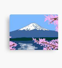 Mount Fuji and Blossom Canvas Print