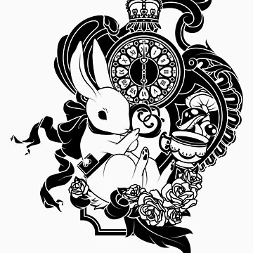 White Rabbit in Black by peppertea