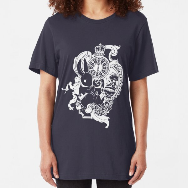White Rabbit in White Slim Fit T-Shirt