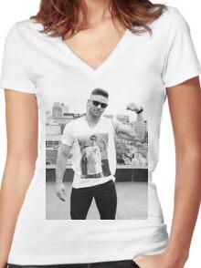 Julian Edelman Shirtsception Women's Fitted V-Neck T-Shirt