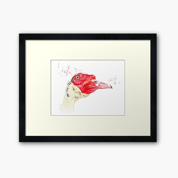 Ilie the Duck Framed Art Print
