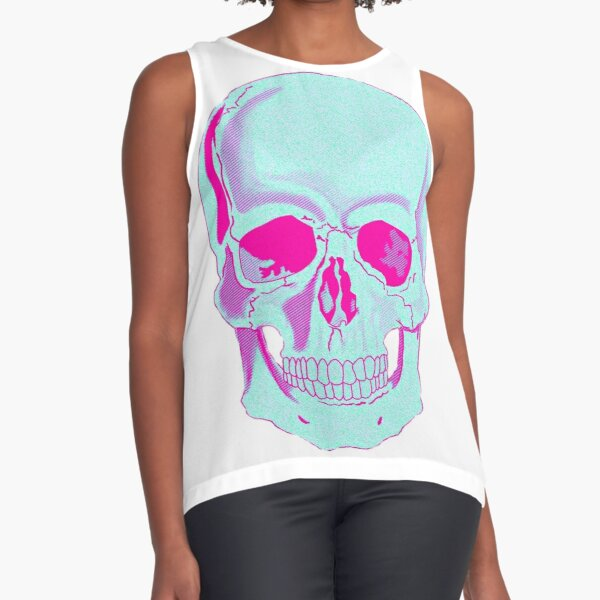 Skull Sleeveless Top