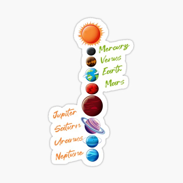 Funny  planets in the solar system  Sticker