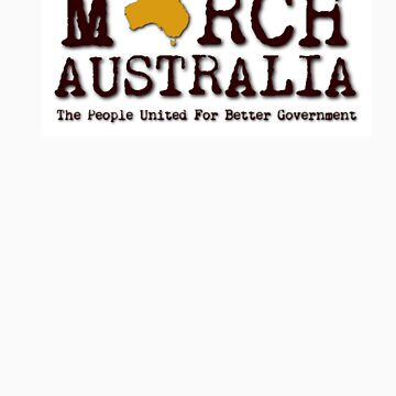 March Australia T-Shirt Plum & Yellow by marchaustralia