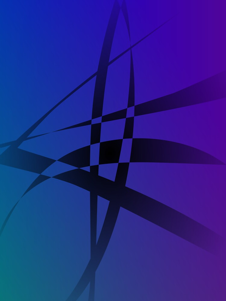 Cool Blue Purple Black Abstract by masabo