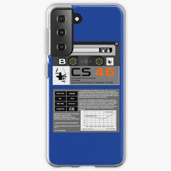 Longbow Electronics CS 46 Type 2 Cassette (front and back) Samsung Galaxy Soft Case
