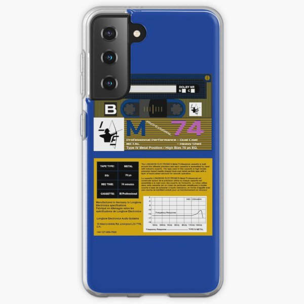 Longbow Electronics M Professional 74 Type 4 Cassette (front and back) Samsung Galaxy Soft Case