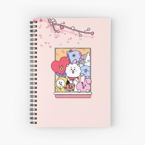Ventana Cherry Blossom BT21 Cuaderno de espiral