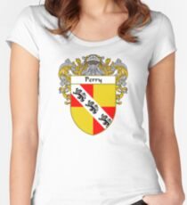 Perry Coat of Arms / Perry Family Crest Women's Fitted Scoop T-Shirt