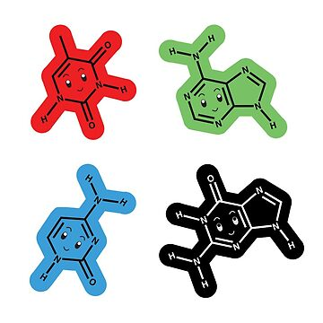DNA Nucleic Acid Molecule Stickers by scicouture