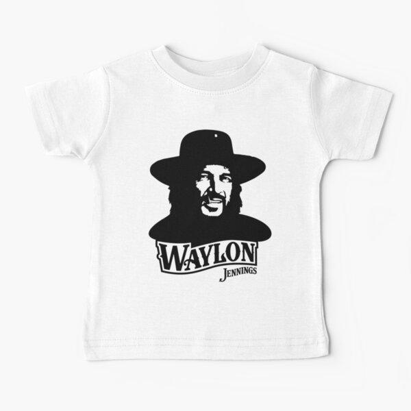 Waylon jennings logo merch official Baby T-Shirt
