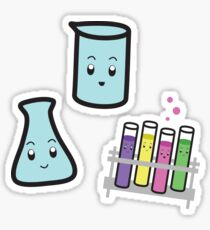 Flasks & Test Tube Stickers Sticker
