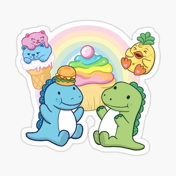 Pickle and Cousin Derp Sticker