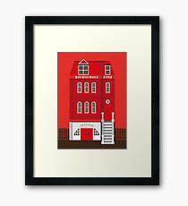 Red House Framed Print