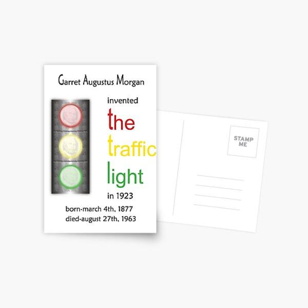 African Amercian, Black  Inventor Garrett Morgan Traffic Light Card (blk002) Postcard