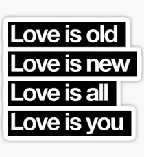 Love Is All. - The Beatles. Sticker
