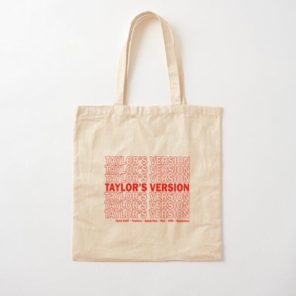 Bolsa de agradecimiento de la versión de Taylor Bolsa de algodón