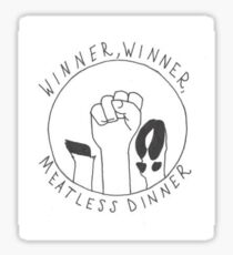 Winner, Winner, Meatless Dinner Sticker
